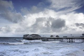 Stormy Cromer Pier