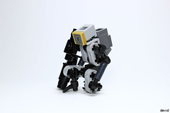 Grey Sentinel (Devid VII) Tags: lego moc military mech devid vii mecha minifigs war troopers crew foitsop wars trooper detail details drone droneuary rebel district soldier dr one gray sentinel