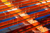 Les volets du palais de justice de Toulouse (Hélène Quintaine) Tags: volet toulouse architecture géométrie octobre pivotante mobile orange translucide transparence hautegaronne france panneau reflet graphisme pivot tige axe abigfave