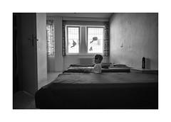 Homework (Jan Dobrovsky) Tags: monochrome portrait biogon21mm child psychiatricclinic blackandwhite human people room leicam10 reallife humanity social document indoor hopelessness