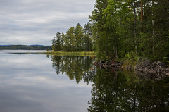 Lake view (Stefano Rugolo) Tags: stefanorugolo pentax k5 smcpentaxda1855mmf3556alwr landscape lake sky forest tree sweden sverige hudiksvall reflection serene peaceful tranquillity