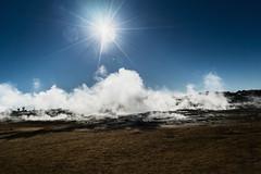 Sun Burst (*Capture the Moment*) Tags: 2017 clouds farbdominanz fog fotowalk iceland island namaskard nebel rauch schlammquellen schwefel smoke sonya7m2 sonya7mii sonya7mark2 sonya7ii sonyfe2470mmf4zaoss sonyilce7m2 sulphur wetter woleken yellow gelb mudfountain mudspring mudwell