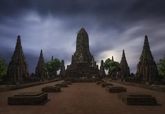Ayutthaya (Thaïlande) (Mathulak) Tags: wat chai watthanaram watchaiwatthanaram thailande thailand temple ayutthaya travel