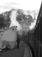 Grosmont departure (feroequineologist) Tags: 44806 black5 lms nymr northyorkshiremoorsrailway railway train steam grosmont