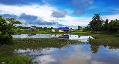 Espejo (Nebelkuss) Tags: mingalaba myanmar mrauku birmania burma agua water nubes clouds espejo mirror fujixt1 fujinonxf1855 asia