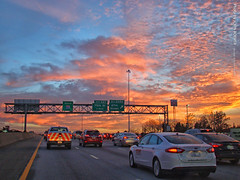 After sunset along southbound I-35, 20 Nov 2017 (photography.by.ROEVER) Tags: merriam kansas usa 2017 november november2017 drive driving driver driverpic ontheroad road highway interstate freeway i35 interstate35 southbound commute eveningcommute johnsoncounty color colour colorful colourful skies aftersunset autumn fall kcmetro kansascitymetro