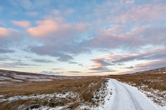Stonesdale Snow (matrobinsonphoto) Tags: snow snowy winter wintry frozen road landscape outdoors countryside north yorkshire dales national park hillside hills hill moor moorland tan inn stonesdale swaledale rural december sky skies big colours colourful cloudy clouds pink orange sunset dusk evening