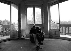 BAP_5846 THE PARTY IS OVER (WORLD OF FMR) Tags: rabbit decay abandon urbex monochrome noiretblanc blackandwhite window friche manor manoir castle canon pho photography art