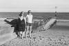 Scandinavian girls on Bournemouth beach (Attila Pasek) Tags: 120 400 kodak tmax zeiss zeissikonikonta5212 beach camera film girl groyne mediumformat vintage woman