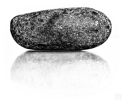 The stone -2- (MAICN) Tags: stone bw 2017 macro monochrome blackwhite schwarzweis spiegelung mono reflection einfarbig sw makro stein