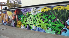 Irony + Tease graffiti, Tooting (duncan) Tags: graffiti tooting irony aliceinwonderland tease teaser