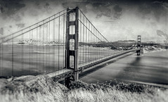 That Bridge (Thomas Hawk) Tags: 75thbirthdaygoldengatebridge america batteryspencer california goldengatebridge marin marinheadlands sanfrancisco usa unitedstates unitedstatesofamerica bridge bw millvalley us fav10 fav25 fav50 fav100