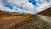 Road to Chandrataal (ramakatre) Tags: chandrataal spiti himalayas mountains sky clouds blue road colours