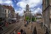 Cathedral in Ghent, Belgium (` Toshio ') Tags: toshio ghent belgium cathedral oldtown saintbavoscathedral rail tram europe european europeanunion fujixe2 xe2