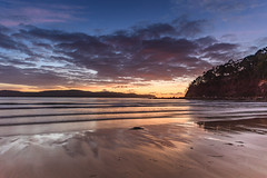 Dawn at the Beach - Seascape (Merrillie) Tags: daybreak uminabeach landscape nature australia mountains nswcentralcoast newsouthwales clouds nsw uminapoint beach scenery centralcoastnsw coastal coast sea waterscape sunrise centralcoast seascape water