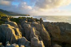 Pancake Rocks (Damien Borel) Tags: pancakerocks punakaiki newzealand travel shore seascape sunset damienborel boblastic scenicview landscape rockycoastine coast