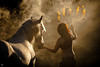 Into (marleensaarloos) Tags: horse equine horses paard smoke performance fire dancer art back riding fine