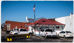 American Cafe - Guthrie, KY. (Mr. Pick) Tags: american cafe guthrie ky kentucky todd county diner americana red white blue hometown us41