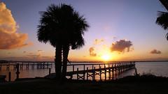 Melbourne, FL Sunset (ikiem2015) Tags: usa florida melbourne sunset pier sonne sonnenuntergang sonyalpha58 meer sea palms palme