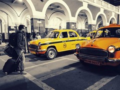 Waiting for Yellow Cab (Chiradeep.) Tags: streetcapture streetphotography streetcandid streetframe streetshot taxi yellowcab blackwhite selectivecolour monochrome tourist travell howrahstation calcutta kolkata westbengal india candidcapture candidkolkata candidstreet candidmoments mobilephotography smartphonephotography androidphotography huawei honor5c documentary reportage photojournalism