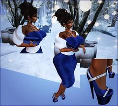 Classic (Chantel's Sultry ALLURE) Tags: moda gacha rare secondlife sl avatar fashion blog blogger vanity blue dreads pocketgacha nail winter hair catwa slink