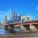 Pittsburgh Pennsylvania   -  The Smithfield Street Bridge  1883  - Historic NRHP