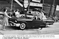 1958 Ford Thunderbird at T. Lyell Puckett, Alhambra CA (aldenjewell) Tags: 1958 ford thunderbird dealership showroom t lyell puckett alhambra ca california ad tennessee ernie peapickin