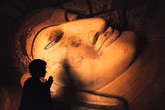 Faith. Bagan, Myanmar (Marji Lang Photography) Tags: bagan bagansite bagantemples buddha buddhaface buddhashead buddhistpagoda buddhistreligion burma burmese god irrawady mandalayregion myanma myanmar pagan paganrealm shinbinthalyaungtemple travelphotography ambiance archeological archeology atmosphere atmospheric beautiful buddhism buddhist buddhisttemple candlelight colorphotography composition documentary enlightened face faith head holy indoor light lyingbuddha man manandgod mystical oneman oneperson people photography pray prayer praying recliningbuddha religion religious ruins sacred silhouette site statue temple tourism touristic travel travelimage travelinburma visitmyanmar worship worshipper worshippping