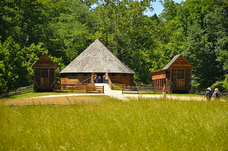 The wheat treading barn at George Washington's place
