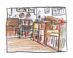Living Room (jimblodget) Tags: sketch test interior tracing