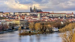 Prague Castle (tomas.jezek) Tags: prague praguecastle oldtown lessertown river vltava island city history heritage rooftops view cityscape castle czechia architecture vista