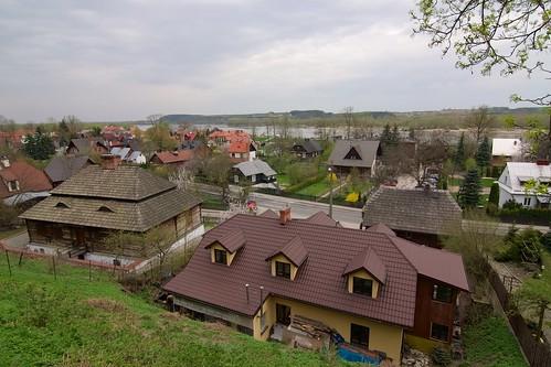Dworek (Podzamcze 20) i budynek (Puławska 17?)