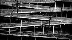 "way out - the next take of ""pattern"" (ignacy50.pl) Tags: wisła śląskie poland phonephotography blackandwhite monochrome pattern ramp shape minimal outdoor ignacy50 documentary"