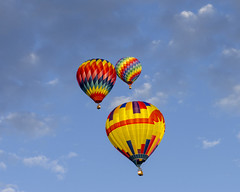 Albuquerque NM Hot Air Balloons 7 (rschnaible) Tags: albuquerque balloon fiesta festival hot air fly flight sport vehicle transportation new mexico us usa west western southwest color colorful sky outdoor