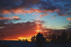 pillar of light (viewsfromthe519) Tags: sunrise pillar light sunlight sun skyscape clouds silhouette orange yellow golden blue stthomas ontario canada