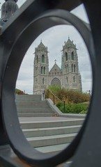 Cathedral Basilica of Sacred Heart (EldeeenExplores) Tags: structure building cathedral clouds 18135mm canon usa nj newjersey newark church god framed architecture path frame