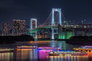 Rainbow Bridge and houseboats