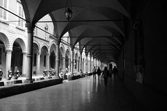 "Bologna, portici (alice 240) Tags: blackwhitepassionaward architecture europa bologna italia europe blackwhite tourism blackandwhite travel monochrome artistic creative portici urban city alicealicjacieliczka alice240 atelier240art nikon flickr poetry dream cinema magic people dark light street persons documentary elegance shadows ngc nationalgeographic ""nikonflickraward"" italy emiliaromagna"