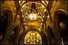 Pugin's Gem arch detail (G. Postlethwaite esq.) Tags: cheadle puginsgem sonya7mkii stgiles arch chandeliers church fullframe mirrorless photoborder pillars ribs vignette emount