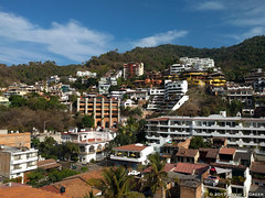 Puerto Vallarta Views (David J. Greer) Tags: puerto vallarta mexico resort town destination tourist holiday adventure development apartment buildings condominiums hill hillside bright blue sky