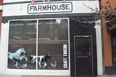 Chicago, IL - Chicago Avenue - Farmhouse Craft Tavern (jrozwado) Tags: northamerica usa illinois chicago farmhouse tavern restaurant cow horse chicken