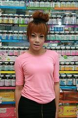 pretty ladyboy (the foreign photographer - ฝรั่งถ่) Tags: pretty ladyboy drug store pharmacy katoey yingcharoen market bangkhen bangkok thailand canon
