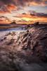 Wembury Gold (Rich Walker75) Tags: plymouth wembury beach beaches sea coast coastline coastal water longexposure longexposures longexposurephotography landscape landscapes landscapephotography seascape rock rocks clouds cloud sunset sky devon greatbritain england canon eos100d efs1585mmisusm eos