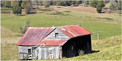 Nice view of the valley (cscott_va.) Tags: fall 2017 highland county virginia grass barn old abandoned blue explore