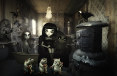 My Front Room (brian_stoddart) Tags: creepy strange weird room figures mice bizzare dark