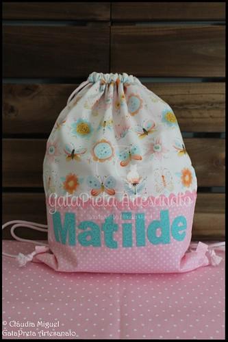 """Saco-mochila de criança """"Borboletando"""""""