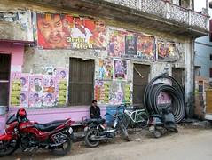 varanasi 2017 (gerben more) Tags: streetscene varanasi benares movieposter motorcycle india