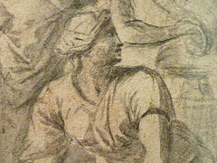 POUSSIN Nicolas (Attribué) - Eliezer et Rebecca (drawing, dessin, disegno-Pontoise) - Detail 05 (L'art au présent) Tags: art painter peintre details détail détails detalles painting paintings peinture peintures 17th 17e dessins17e 17thcenturydrawings 17thcentury tableaux pontoise iledefrance museum nicolaspoussin france paris femme woman robe dress dresses grace graceful grâce jeunefemme youngwoman youngwomen servant servante bible man men hommes youth tête heads head jeune young figure personne people