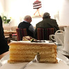 Streifen machen schlank (bornschein) Tags: cake people café city cappuccino stuttgart cup