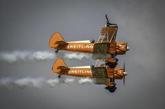 130825_Dunsfold_0139 (dandridgebrian) Tags: airshow dunsfold wingswheels airdisplay breitlingwingwalkers biplanes breitlingwingwalker boeingstearman